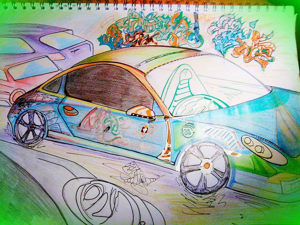 'Stylised Porsche' DK